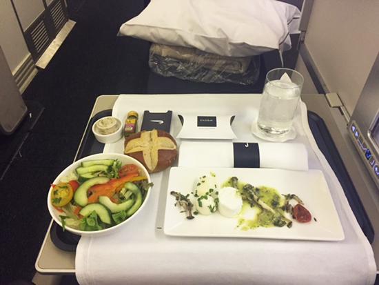 My entree onboard British Airways Club World