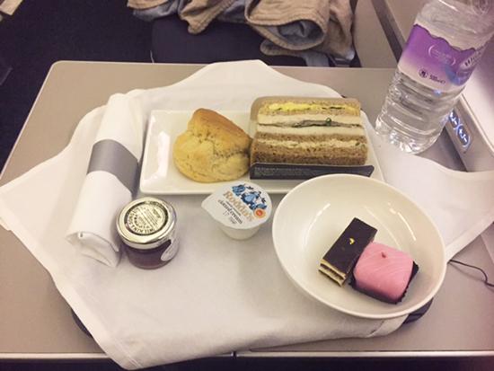 Afternoon tea onboard British Airways Business Class (image: Lauren Burvill)