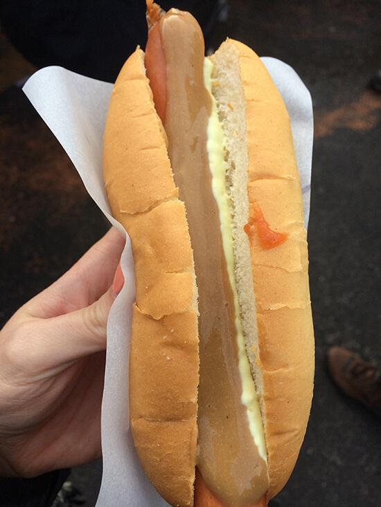Lamb hot dog (image: Tessa Watkins)