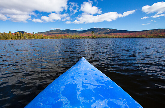 Kayaking on Saddleback Lake, Maine