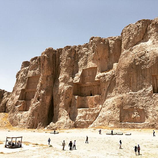 Naqsh-e-Rustam necropolis (image: Gwenllian Jones)