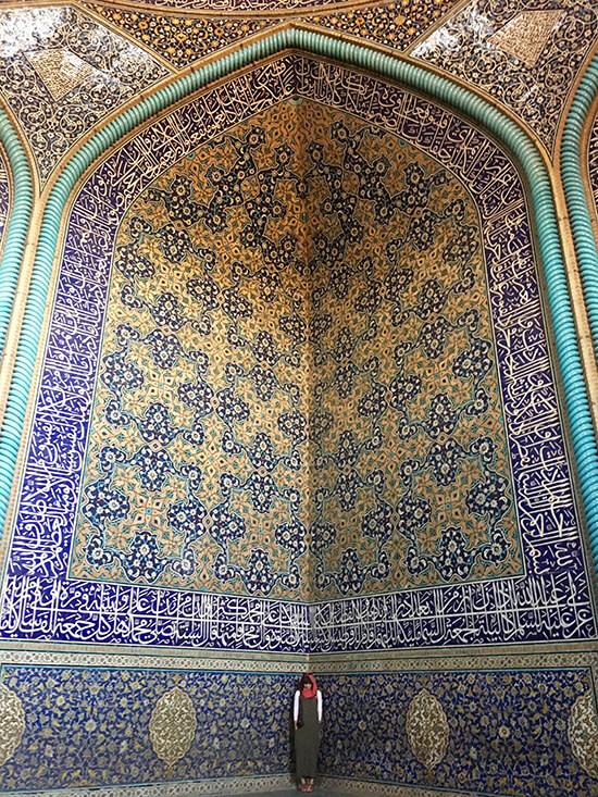 Sheikh Lotfollah Mosque, Isfahan (image: Gwenllian Jones)