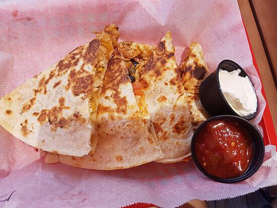 Blackened chicken quesadillas (image: Alexandra Gregg)