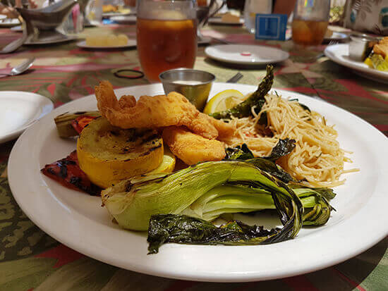 Lionfish, noodles and veg (image: Alexandra Gregg)