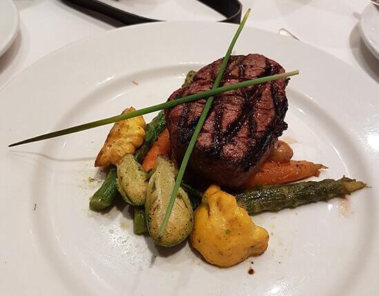 Steak at Hotel Monteleone, Orleans (image: Alexandra Gregg)