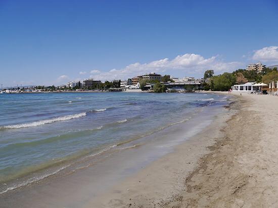 The beach outside Balux Cafe (image: Alexandra Gregg)