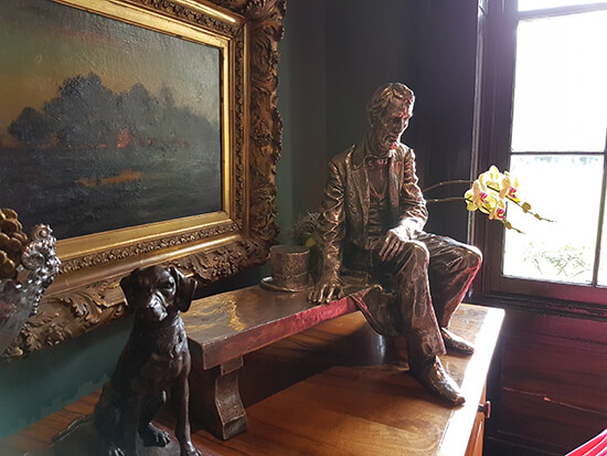 One of the many  pieces inside Houmas House - a rare silver statue of Abraham Lincoln (image: Alexandra Gregg)