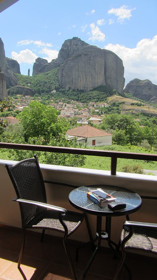 The view from our Kastraki hotel room (image: Angela Griffin)