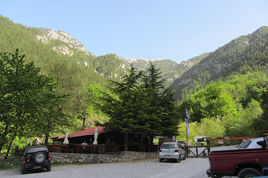 Mount Olympus' trailhead at Prionia (image: Angela Griffin)