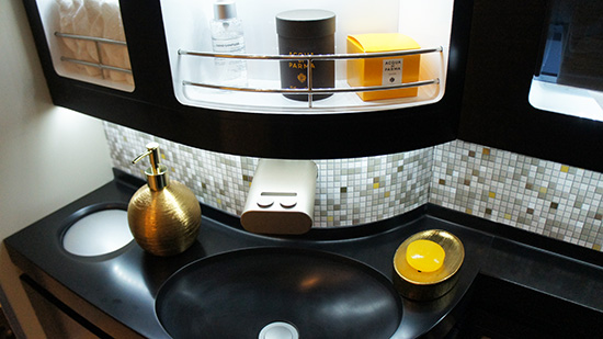 Inside The Residence bathroom featuring Acqua di Palma products (Image: Lauren Burvill)