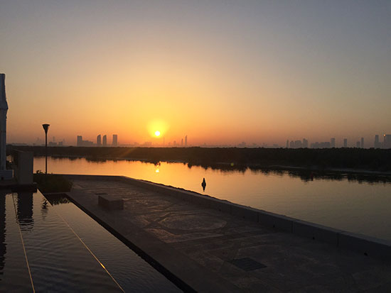 Sunset in Abu Dhabi (image: Lauren Burvill)
