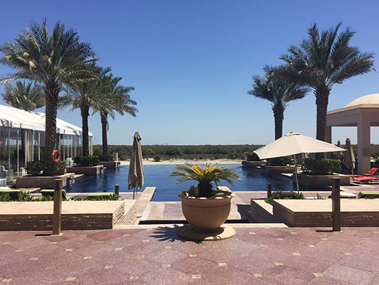 The pool at Eastern Mangroves Hotel and Spa (Image: Lauren Burvill)