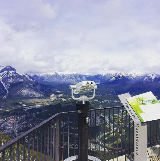 The view from Sulphur Mountain, accessible via the Banff Gondola (image: Adam Vanstone)