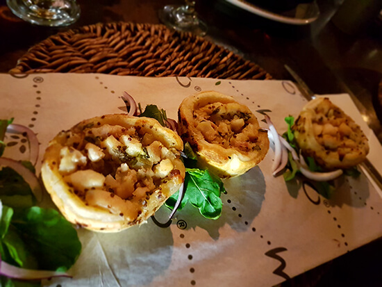 Crocodile pies at Moyo (image: Chris Steel)