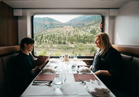 The new GoldLeaf dining cart (image: Rocky Mountaineer)