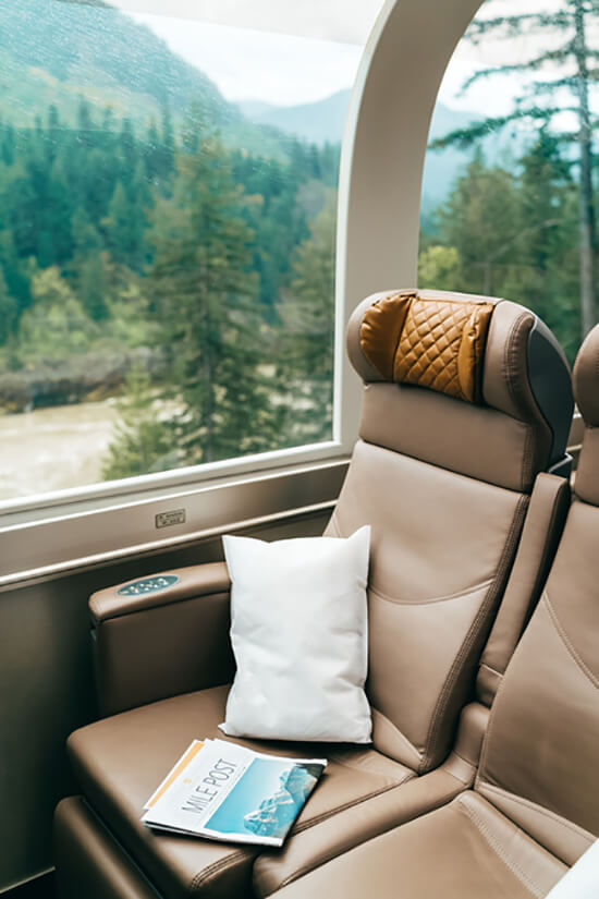 The new GoldLeaf seating (image: Rocky Mountaineer)
