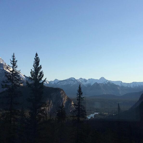 The view from the RimRock Hotel in Banff (image: Adam Vanstone)
