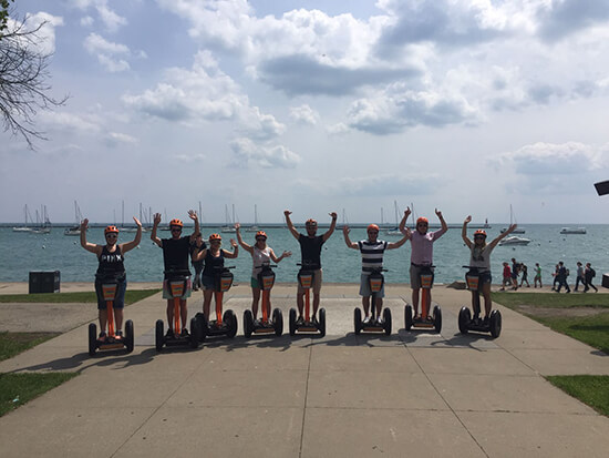 Segwaying at Lake Michigan with  Absolutely Chicago Segway (image: Alexandra Gregg)