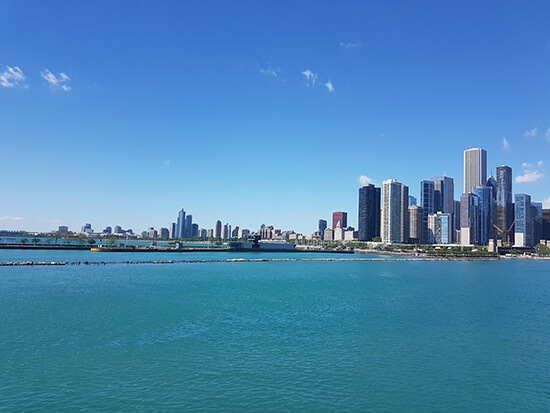 The Chicago skyline (image: Alexandra Gregg)