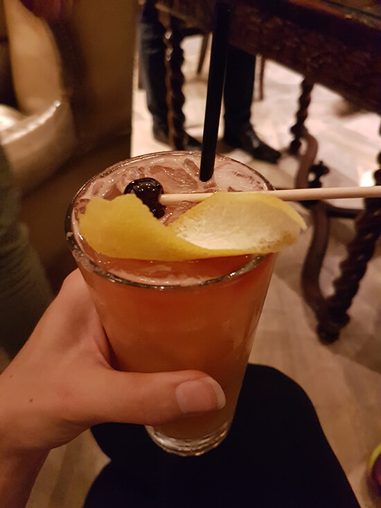 My mystery cocktail at the Turtle Bar (image: Alexandra Gregg)