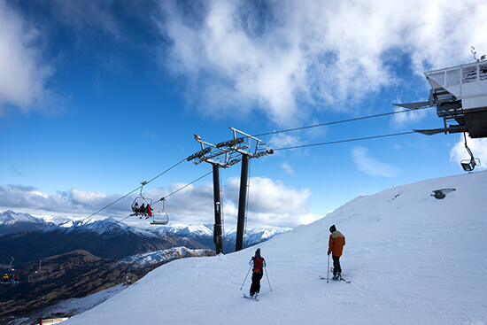 Skiing at Coronet Peak