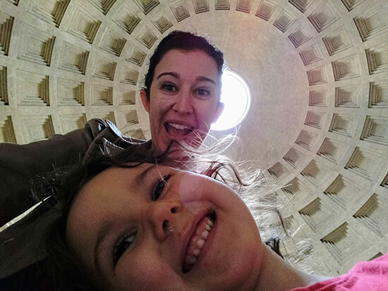 Me and daughter Sophia in Rome (image: Sue Johnson)