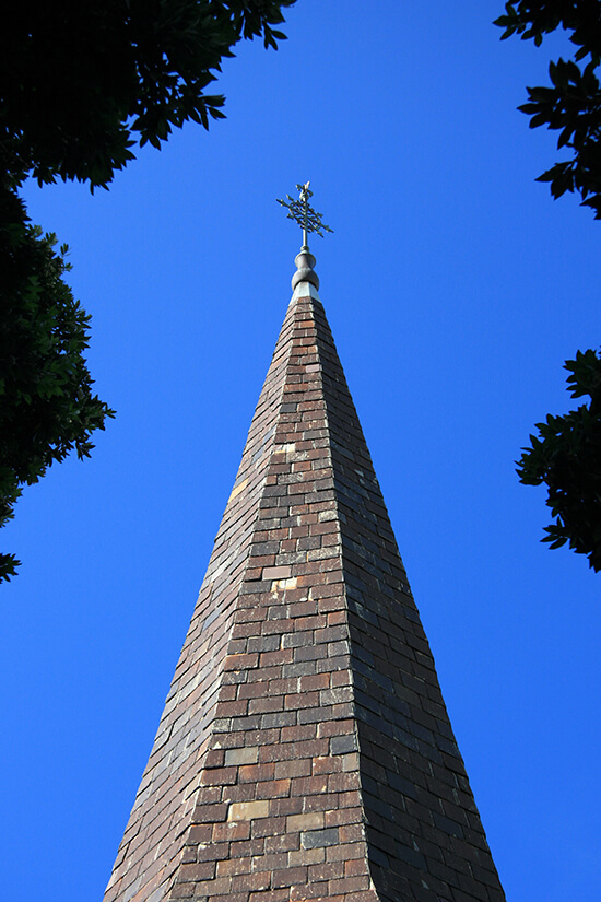 The spire of Old St Paul