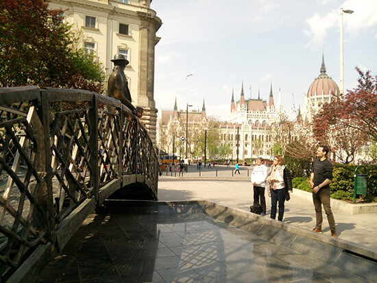 Walking tour in Budapest (image: Sue Johnson)