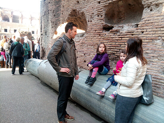 Walking tour at the Colosseum in Rome (image: Sue Johnson)