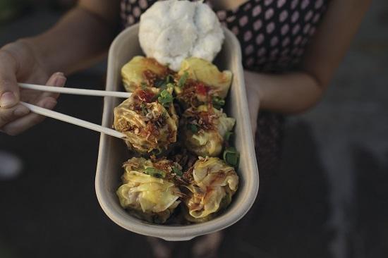 A dish from Eat Street Markets in Brisbane