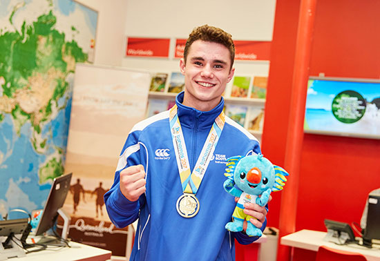 Scottish gold medal winning boxer Tyler Jolly