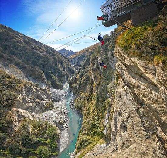 (image: Tourism New Zealand/Shotover Canyon Swing)