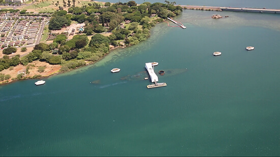 Pearl Harbor memorial (image: Phil Murray)