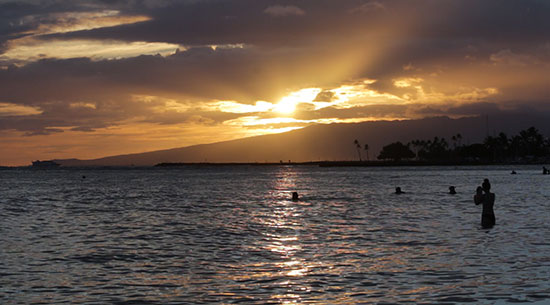 Sunset from the Outrigger (image: Phil Murray)