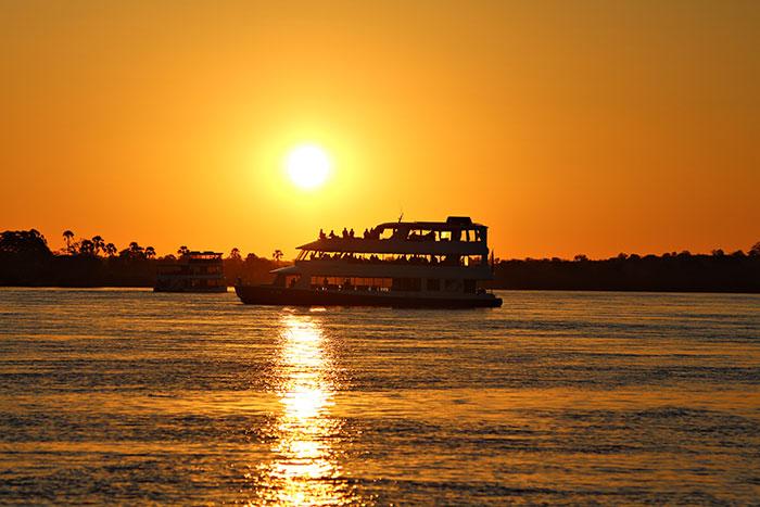Victoria Falls sundowner cruise