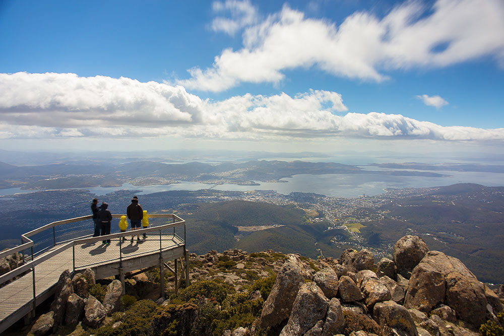 View from Mount Wellington Tasmania