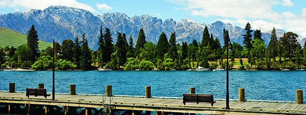 The Remarkables Mountain Range from Queenstown
