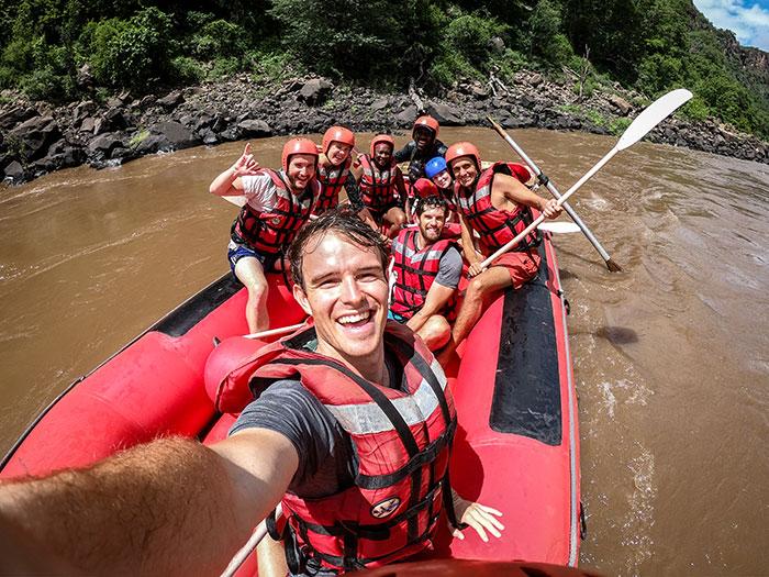 White water rafting Ross Jennings