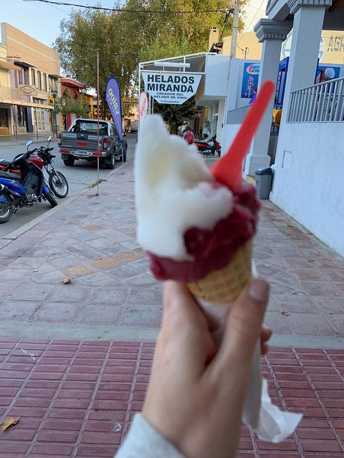 Wine ice cream Carlie Mesquitta