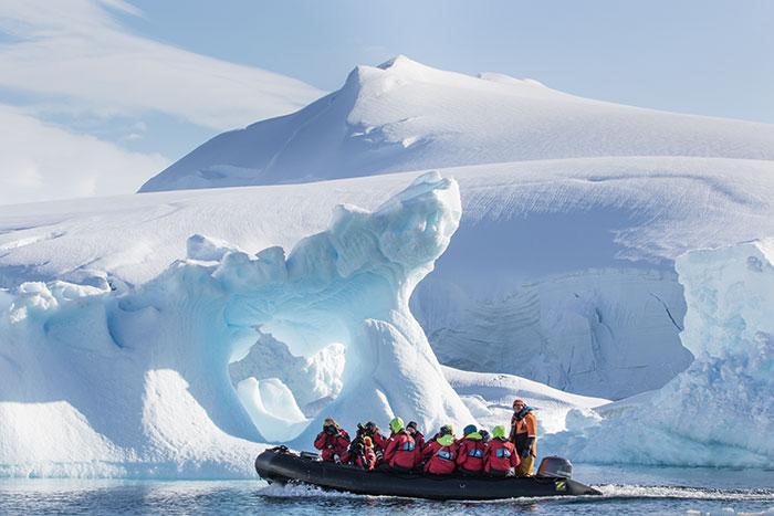 Zodiac cruise in Antarctica Ginny Scholes