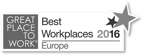 Great Place To Work - Best Workplaces Europe award 2016